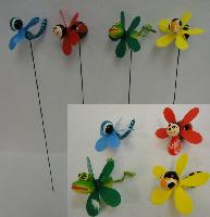 Yard Stake with Pinwheel [Frog/Bee/Bug Assortment]
